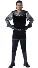 Men's Royally Knighted Costume - Black