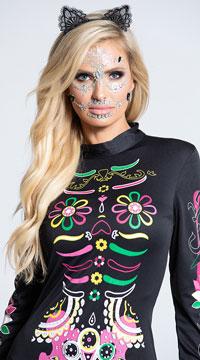 Sugar Skull Cat Costume