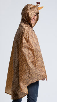 Giraffe Party Poncho Costume - Brown