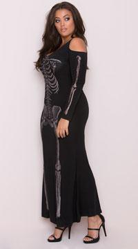 Plus Size Bone Appetit Costume - Black