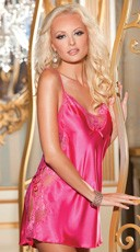 Charmeuse Lace Chemise - as shown