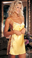 Charmeuse Lace Chemise - Buttercup