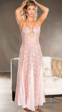 Lucious Lace Gown - Blush