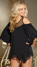 Jersey Knit Chemise - Black