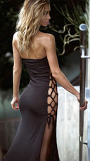 Long Slinky Dress - Black