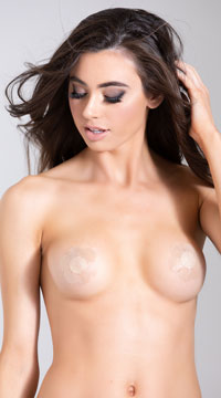 4 Pack of Nude Daisy Pasties - Nude
