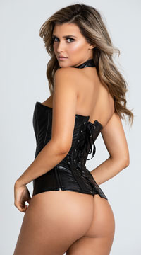 Fierce Fantasies Bustier Set - Black