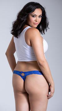 Plus Size Seductive Thong - Blue