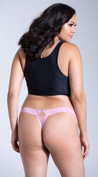 Plus Size Seductive Thong - Pink
