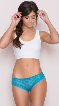Lace-Up Back Panty - Turquoise