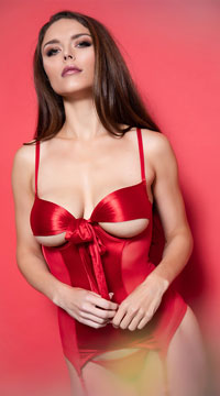 All Wrapped Up Bustier - Red