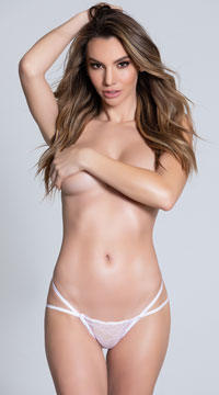 Double Strapped Open Back Panty - White
