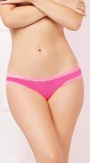 Cage Back Microfiber Panty - Hot Pink