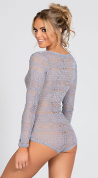 Cozy Sweater Romper - Heather Grey