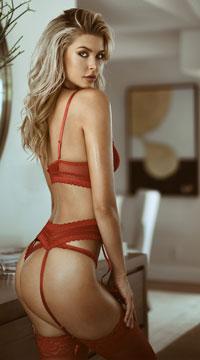 Naughty Net Bra Set - Red