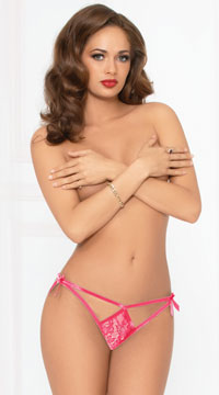 Tie Me In A Bow Panty - Hot Pink