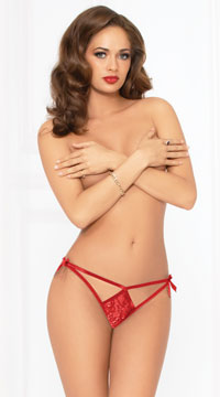 Tie Me In A Bow Panty - Red