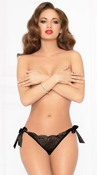All Tied Up Lace Panty - Black