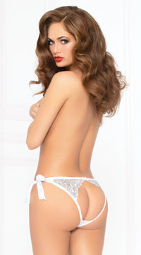 All Tied Up Lace Panty - White