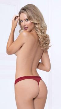 Fancy Flirt Thong Panty - Red