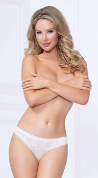 Fancy Flirt Thong Panty - White