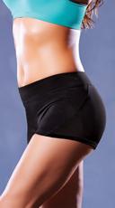 Microfiber and Mesh Shorts - Black