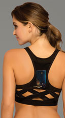 Stow and Go Cage Sports Bra - Black