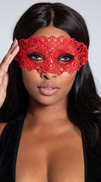 Lace Eye Mask - Red