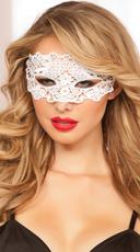 Lace Eye Mask - White