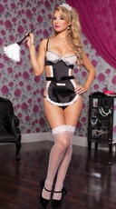 Maid With Care Lingerie Set - Black