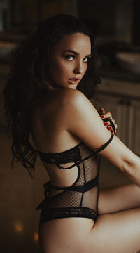 Stunner Net and Lace Teddy - Black