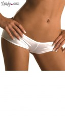 Scrunch Back Micro Short - White