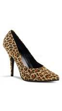 Seduce Stylish Pumps - Leopard Print Microfiber