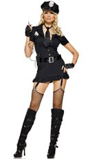 Sexy Dirty Cop Costume - Black