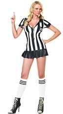 Sexy Referee Costume - Black/White