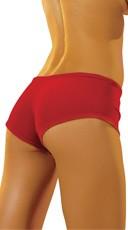 Stretch Velvet Shorts - Red