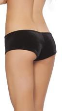 Stretch Velvet Shorts - Black