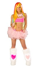Pretty in Pink Crop Top and Tutu Set - as shown
