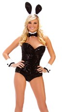 Party Bunny Costume - Black/White