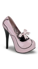 Teeze Two Tone Pump With Bow - as shown