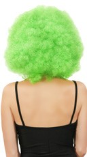 Neon Green Jumbo Clown Wig - Green
