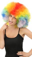 Jumbo Rainbow Clown Wig - Rainbow
