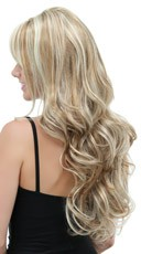 Long Curly Frosted Blonde Wig - Frosted Blonde