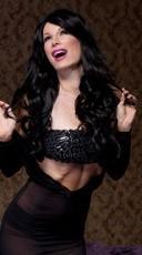 Long Curly Onyx Black Wig - Onyx