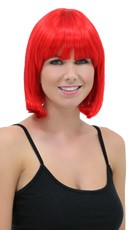 Fire Engine Red Bob Wig - Firecracker Red