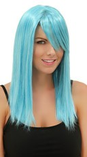Cool Blue Straight Wig - Cool Blue
