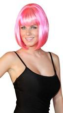 Deluxe Bobbed Bubblegum Pink Wig - Bubblegum