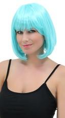 Deluxe Bobbed Light Blue Wig - Light Blue