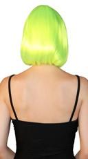 Deluxe Bobbed Neon Green Wig - Neon Green