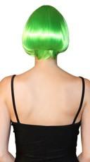 Deluxe Green Mini Bob Wig - Green